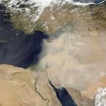 Tormentas de polvo afectando a refugiados sirios