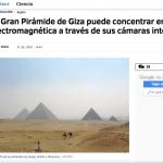 Gran Pirámide de Giza radiación electromagnética